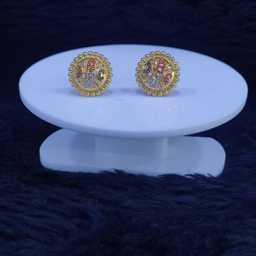 22KT/916 Yellow Gold Minni Earrings For Women