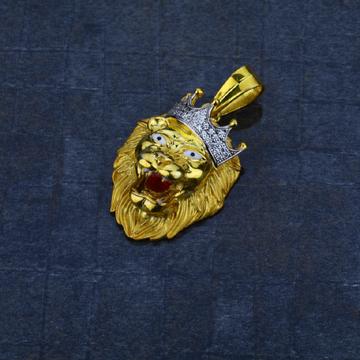 Men's 916 Heavy Lion Gold Pendant-MHP03