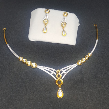 22KT Gold Light Weight CZ Diamond Set