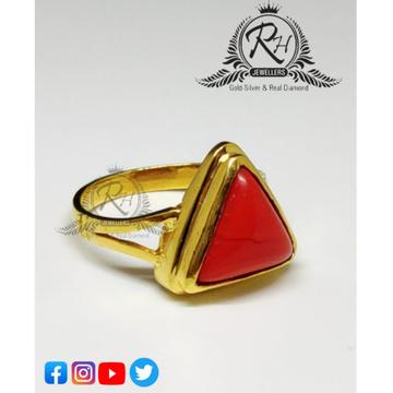 22 carat gold mangal stone gents rings RH-GR103