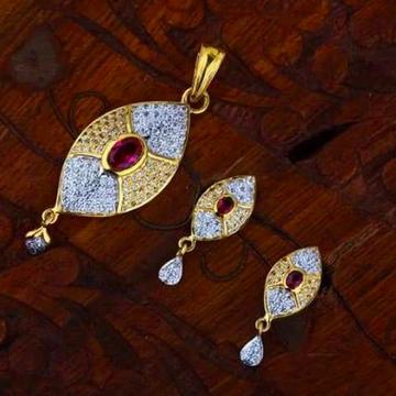 916 gold chain pendantset RH_pset63