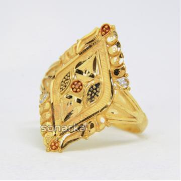 22ct 916 Yellow Gold Ladies Ring Indian