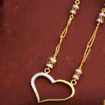 22KT/ 916 Gold Fancy casual wear Hart pendant mang... by
