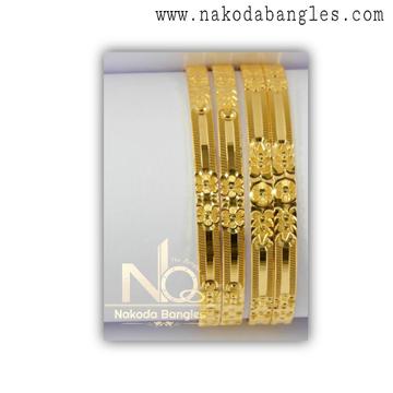 916 Gold CNC Bangles NB - 1323