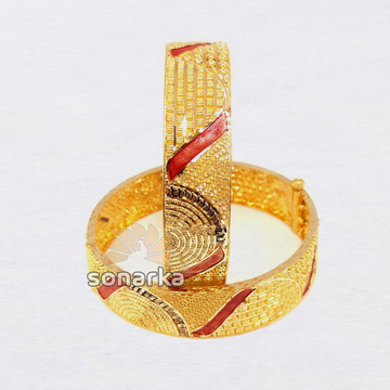 916 Gold Meenakari Bangle SK - B001