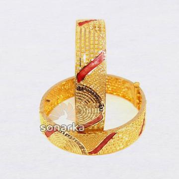 916 Gold Meenakari Bangle SK - B001 by