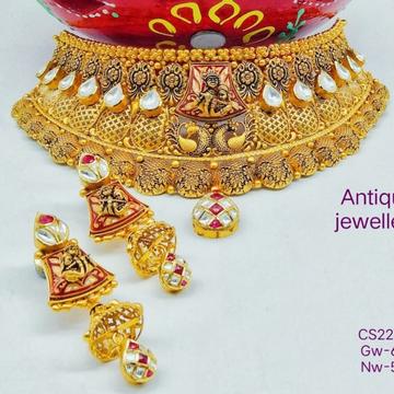 916 Gold Chokar Set by