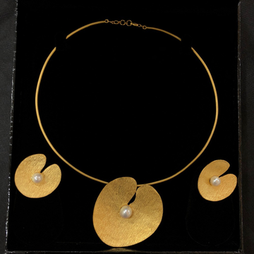 916 gold delicate necklace set