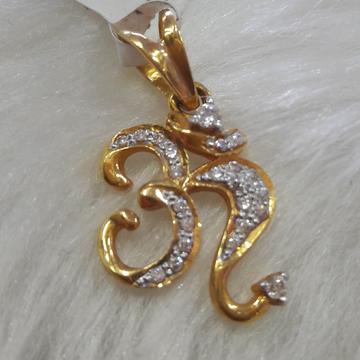 antique Diamond Om pendant 22kgold by