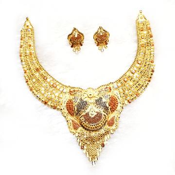 916 gold kalkati necklace set mga - gn003