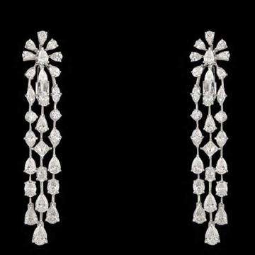 Diamonds Ear Hangings JSJ0016