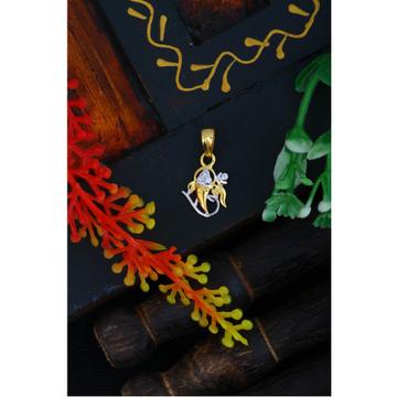 916 Gold CZ Ganesh Design Pendant JJ - P014