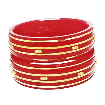 22k gold red lining chudla bangles mga - cdg0010
