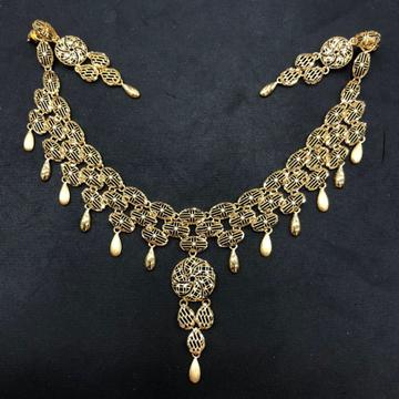 22K Gold Fancy Necklace Set by