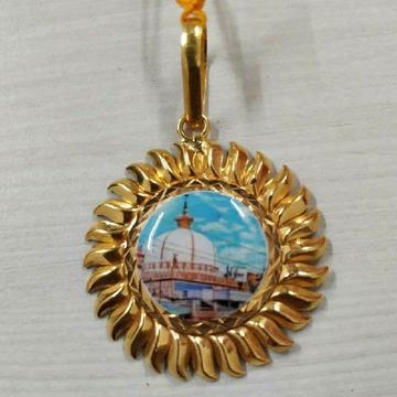 22KT Gold Surya Design Photo Pendant