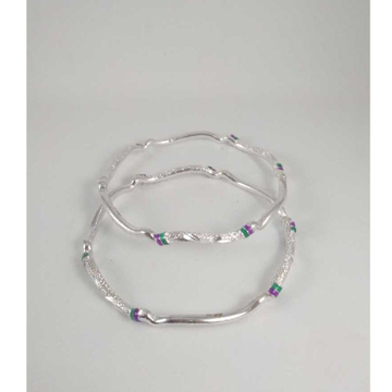 Silver Fancy Bangles. NJ-B01051