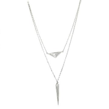 925 Sterling Silver Designer Necklace MGA - NKS0041