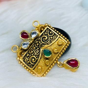916 Gold Jadtar Mangalsutra Pendants msp-0019