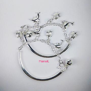 92.5 sterling silver Baby kada bracelet ML-105