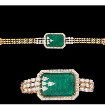 Diamonds and emeraldsbraceletjsj0065