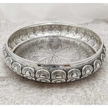 925 Pure Silver Antique Pooja Thali PO-263-34 by Puran Ornaments