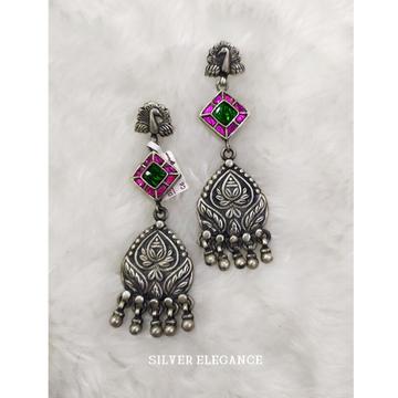 Silver peacock design earring se-e011