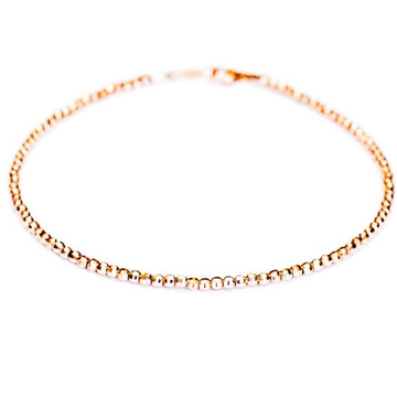 18kt rose gold simple and classy bracelet for women jkb041