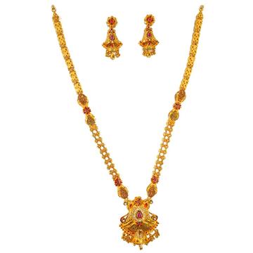 1 gram gold forming necklace set mga - gfn0016