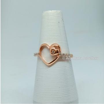 18kt Rose Gold Heart Shape Ladies Ring