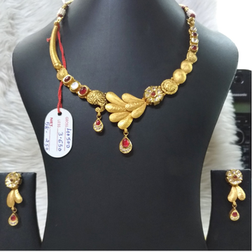 22KT Gold Antique Bridal Neklace Set