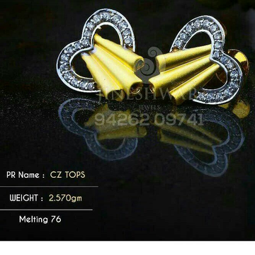 18kt Special Occation Were Cz Gold Ladies Tops ATG -0202