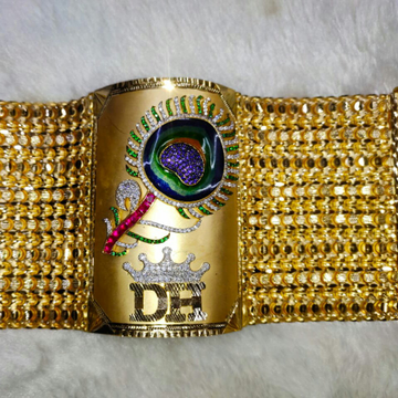 22kt peacock bracelet