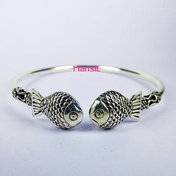 92.5 sterling silver cz stone Kada bracelet ML-83