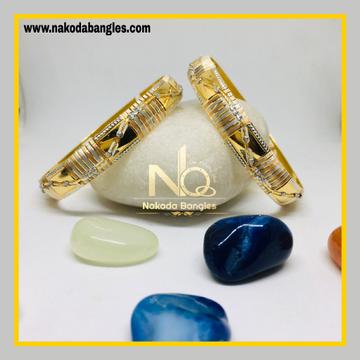 916 Gold CNC Bangles NB - 1270