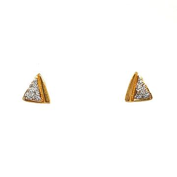 22K Gold Triangle Shaped Designer Earrings MGA - BTG0369
