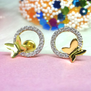 916 GOLD BUTTERFLY CZ EARRINGS