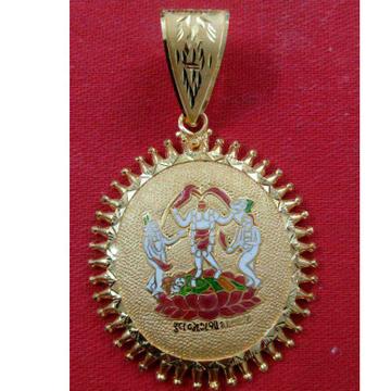 916 Gold Religious Phul Jogani Maa Pendant