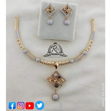 22 carat gold traditional necklace set RH-NC377