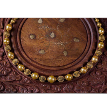 916 Gold Antique Yellow Beads Mala BJ-M003 by