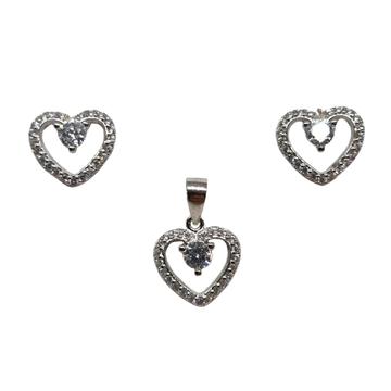 925 Sterling Silver Heart Shape Designer Pendant S...