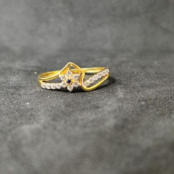 22k girl fancy gold ring-17033