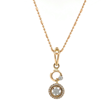 Satis Diamond Pendant in Rose GOald 8SHP64