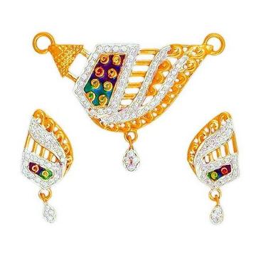 916 Gold Hallmarked Designer Mangalsutra Pendant