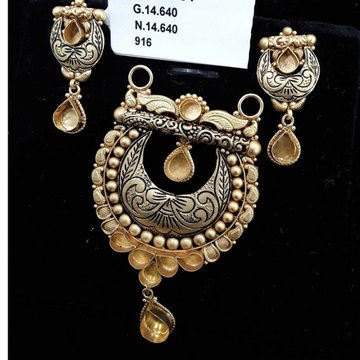 916 Antique Light Weight MS P.set Ghat