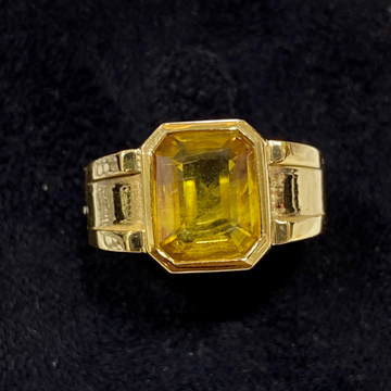 Yellow Sapphire Ring by