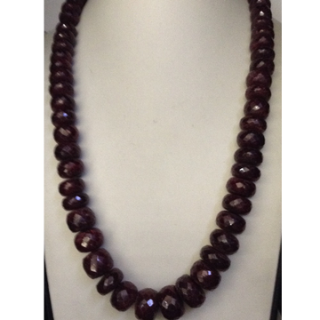 Natural Red Ruby Faceted Round Beeds Graded Mala