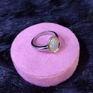 92.5 Sterling Silver Amaretto Ring For Women