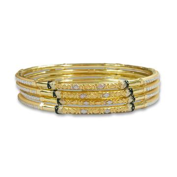 SIMPLE GOLD COPPER KADLI BANGLE by