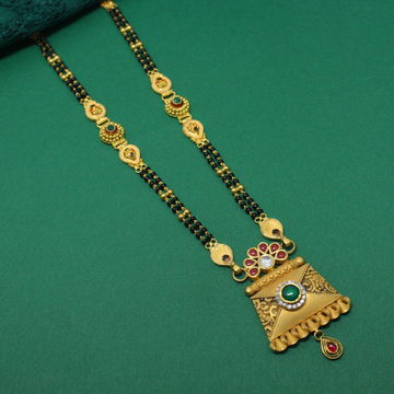 916 Hallmarked Antique Mangalsutra by Simandhar Jewellers