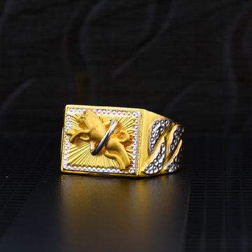 Mens 22ct Plain Gold Ring-MPR02